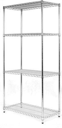 Regał Chrom 4-półki (36x61x200cm)